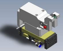 3D-Konstruktion Vereinzelungsgreifer Kunststoffgehäuse