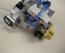 Greifer-Baugruppe mit Ventilen, Automatik-Wechsel-Adapter und RFID-Tag