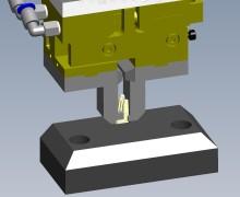 3D-Konstruktion des Greifers für ein Kunststoff-Gehäuse